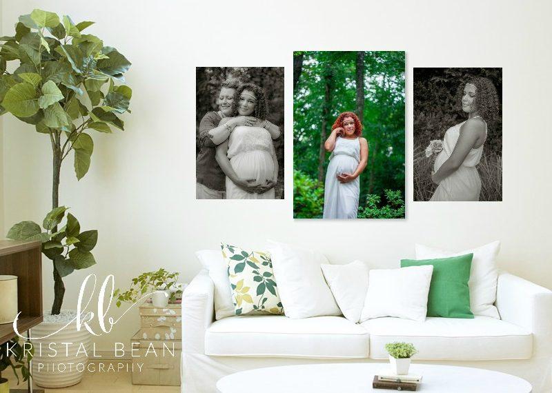 Maternity session wall art, maternity photos