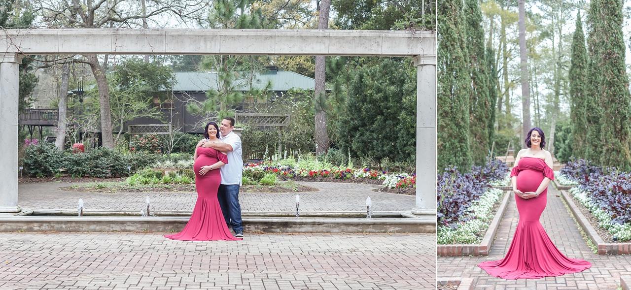 gorgeous couples maternity photo session at mercer arboretum houston texas