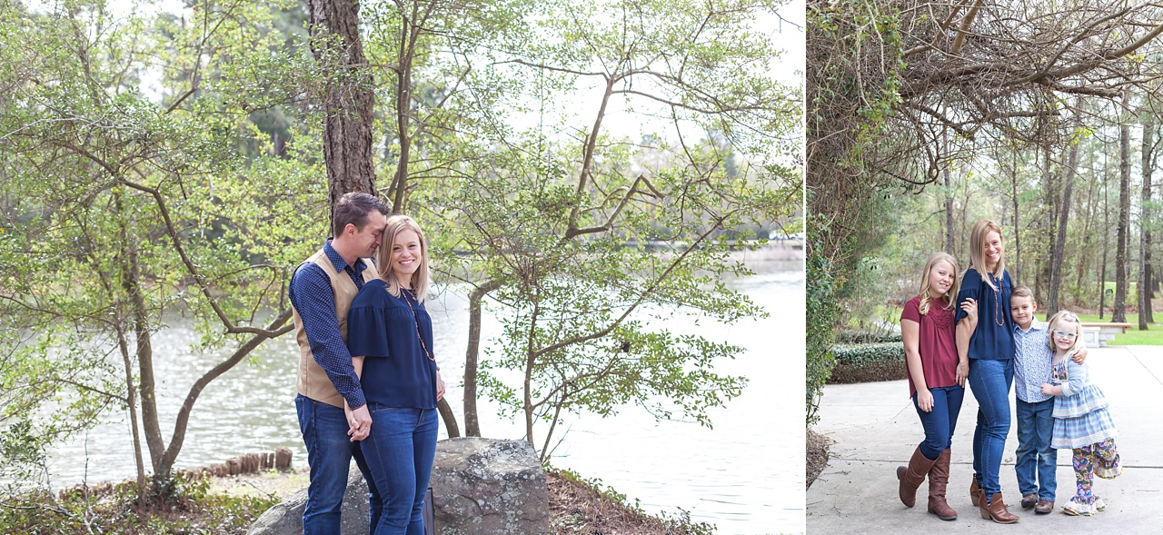 outdoor family photo session in the woodlands, texas