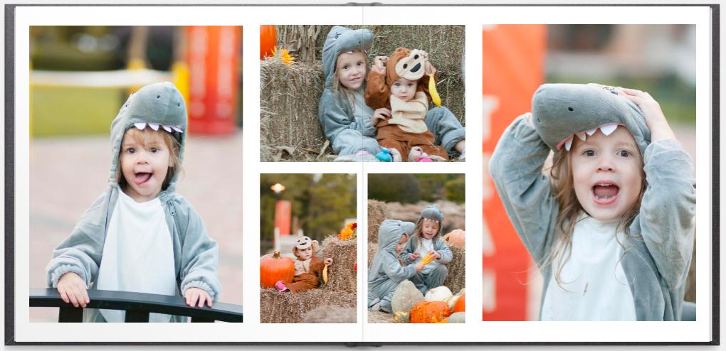 halloween photos inside family yearbook