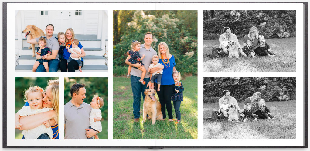 family yearbook that captures precious memories from the past year
