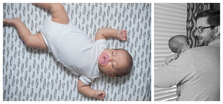 at-home newborn photo session The Woodlands Tx