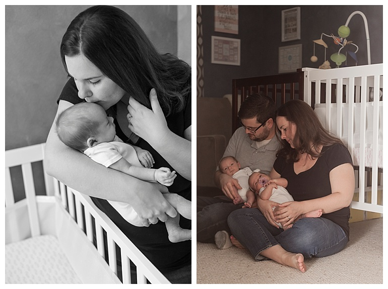 in-home newborn session The Woodlands Tx