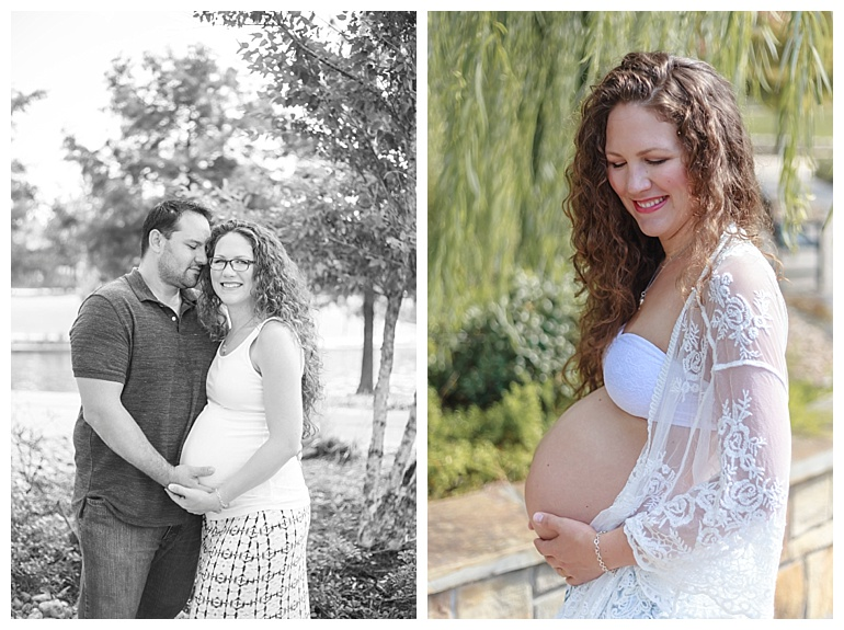 outdoor maternity session the woodlands