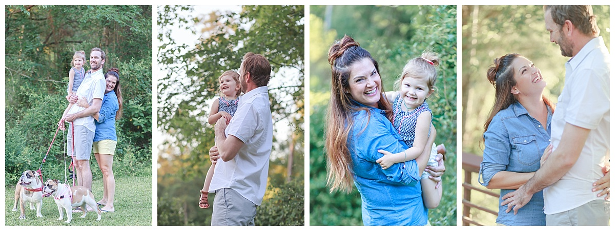 outdoor family photo session the woodlands tx