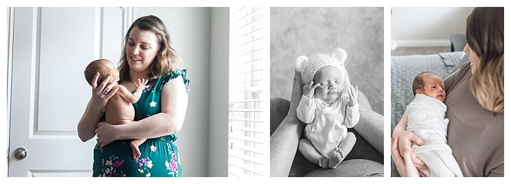 the woodlands in-home newborn photography
