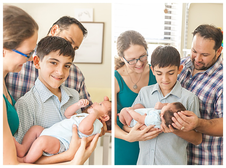 the woodlands at-home newborn pictures