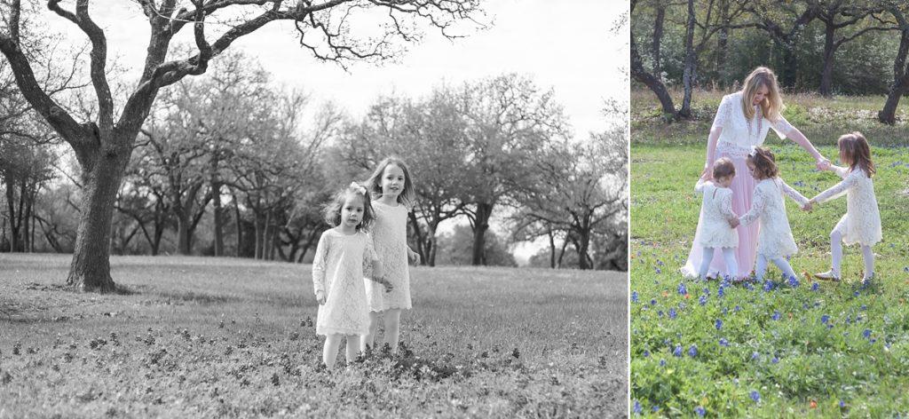 family session in open field brenham texas