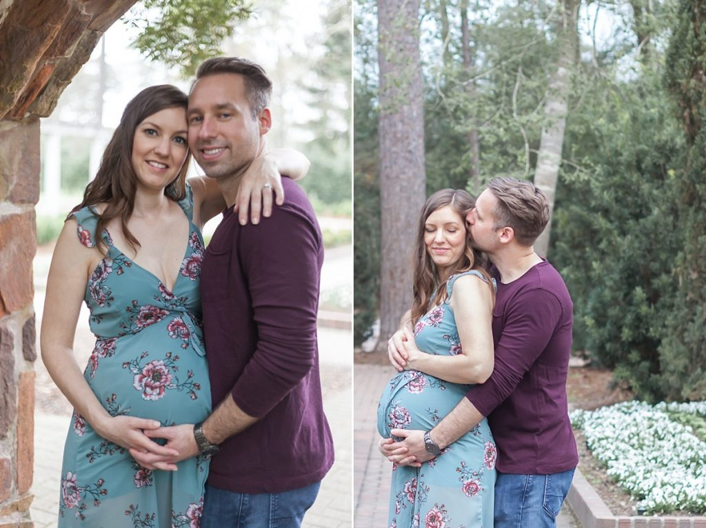 the woodlands texas couples maternity photo session