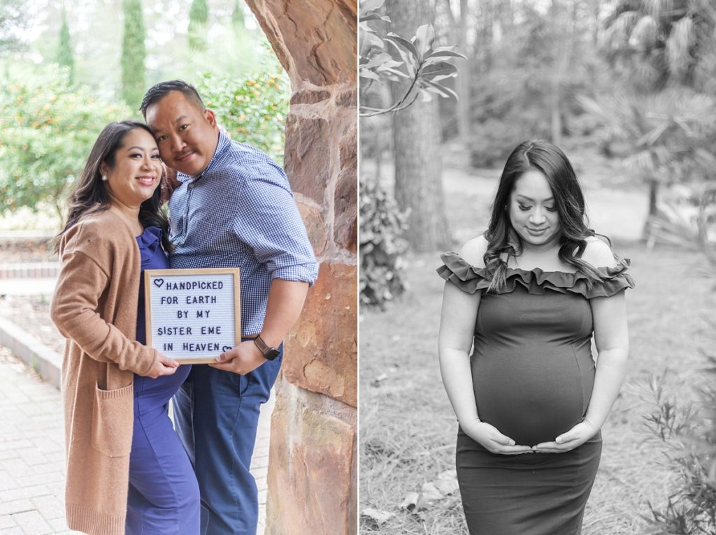 mercer arboretum couples maternity photos the woodlands tx