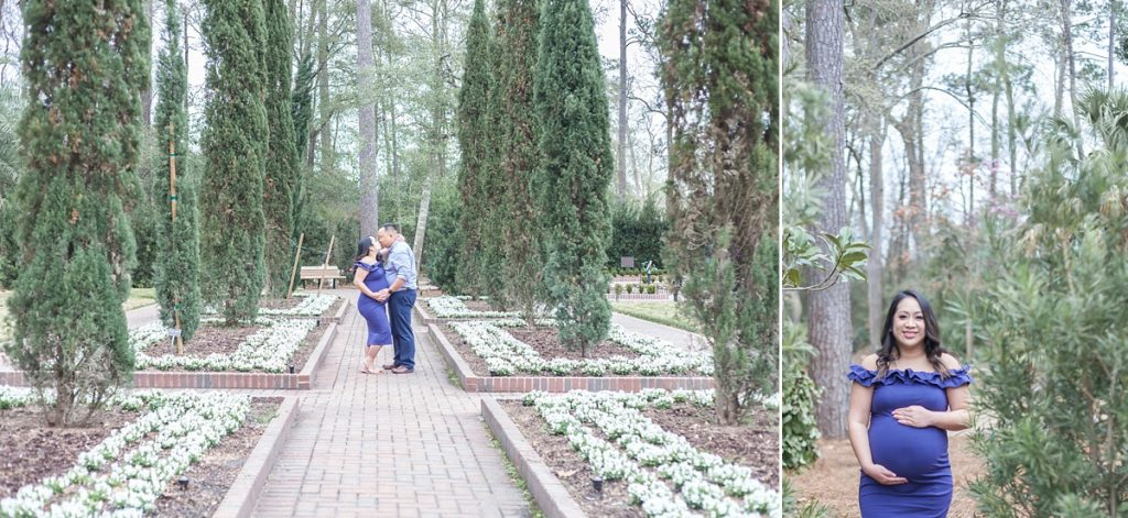 outdoor couples maternity session the woodlands, tx