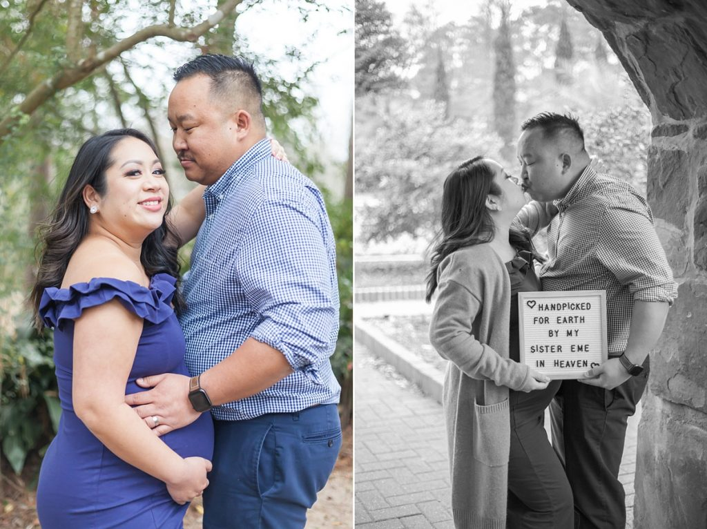romantic couples maternity session houston tx