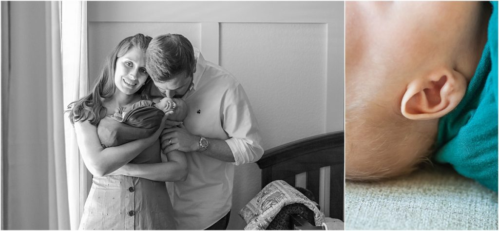 natural light at home newborn photography in the woodlands texas