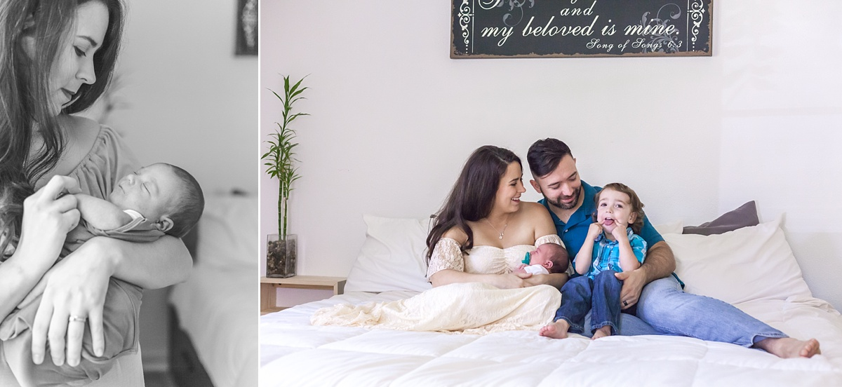 family newborn photo session in the woodlands texas