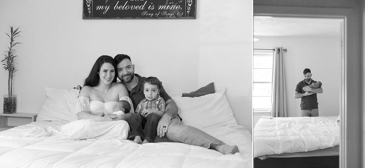 beautiful newborn photography session at home in the woodlands, texas