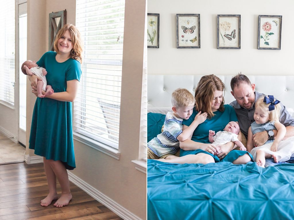 beautiful in-home newborn session in the woodlands, texas