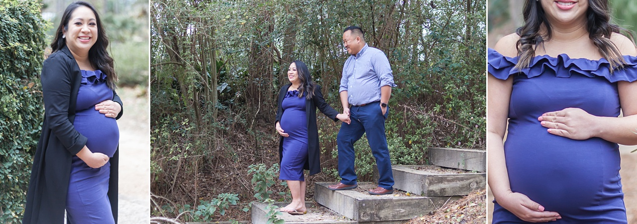 romantic maternity session mercer arboretum houston texas