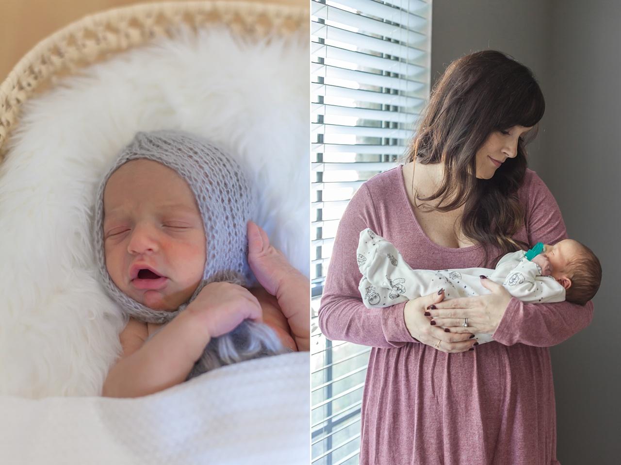 sleeping newborn baby during newborn portraits
