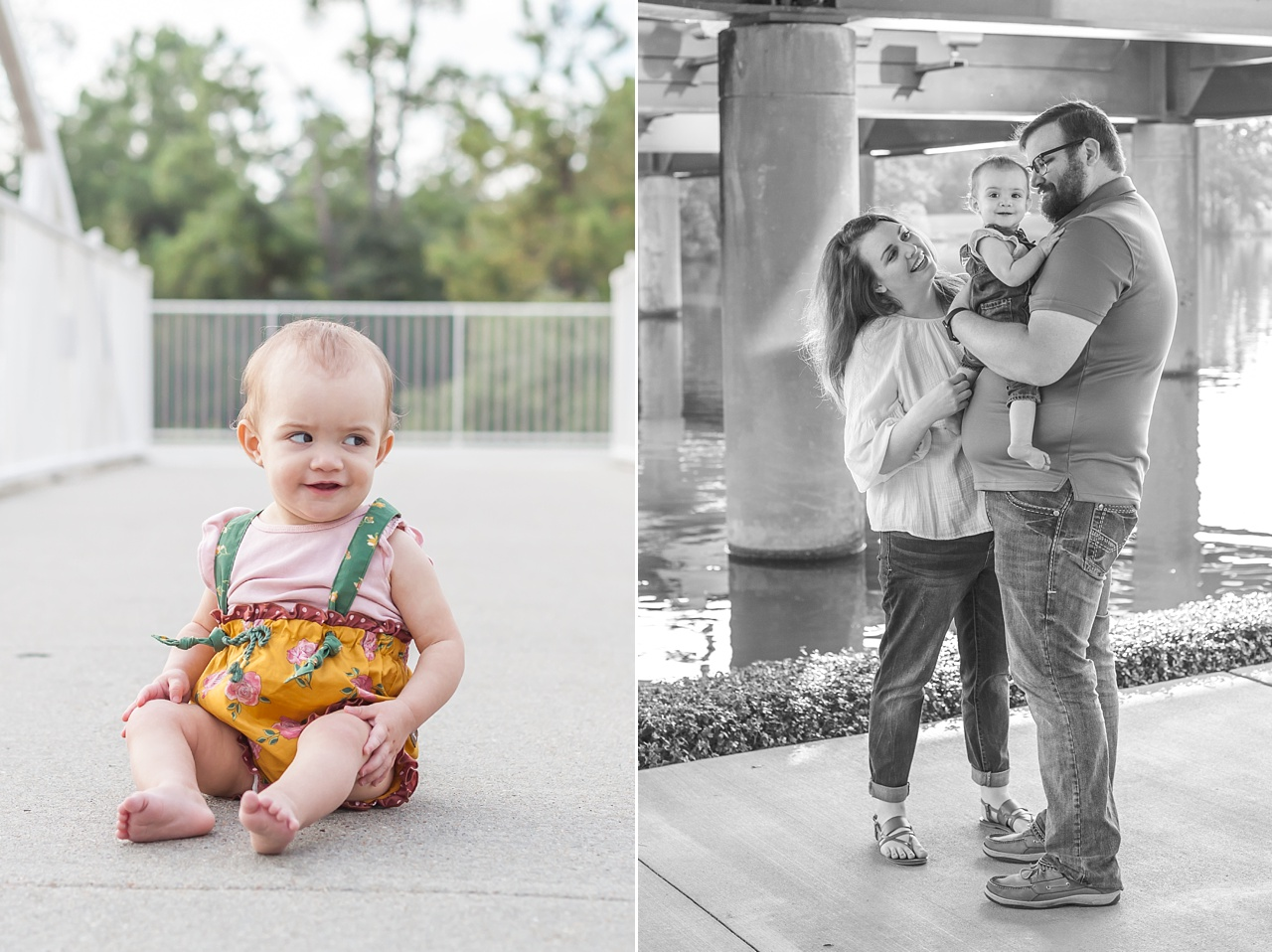 the woodlands waterway family portrait session