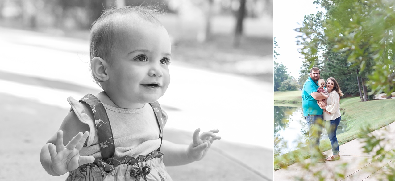 outdoor photos with toddler the woodlands waterway