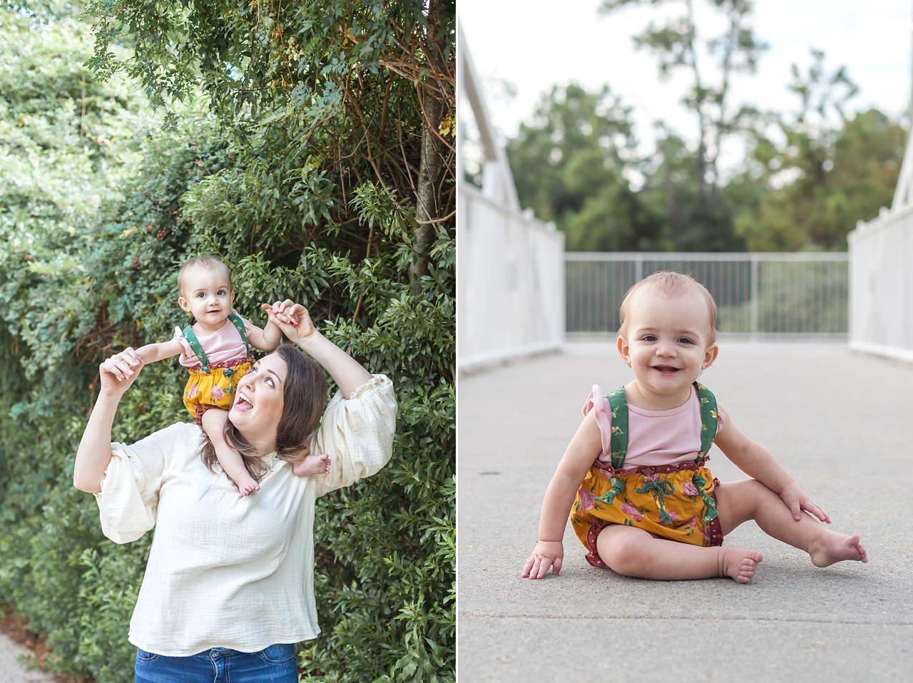 mommy and me outdoor photography session the woodlands texas