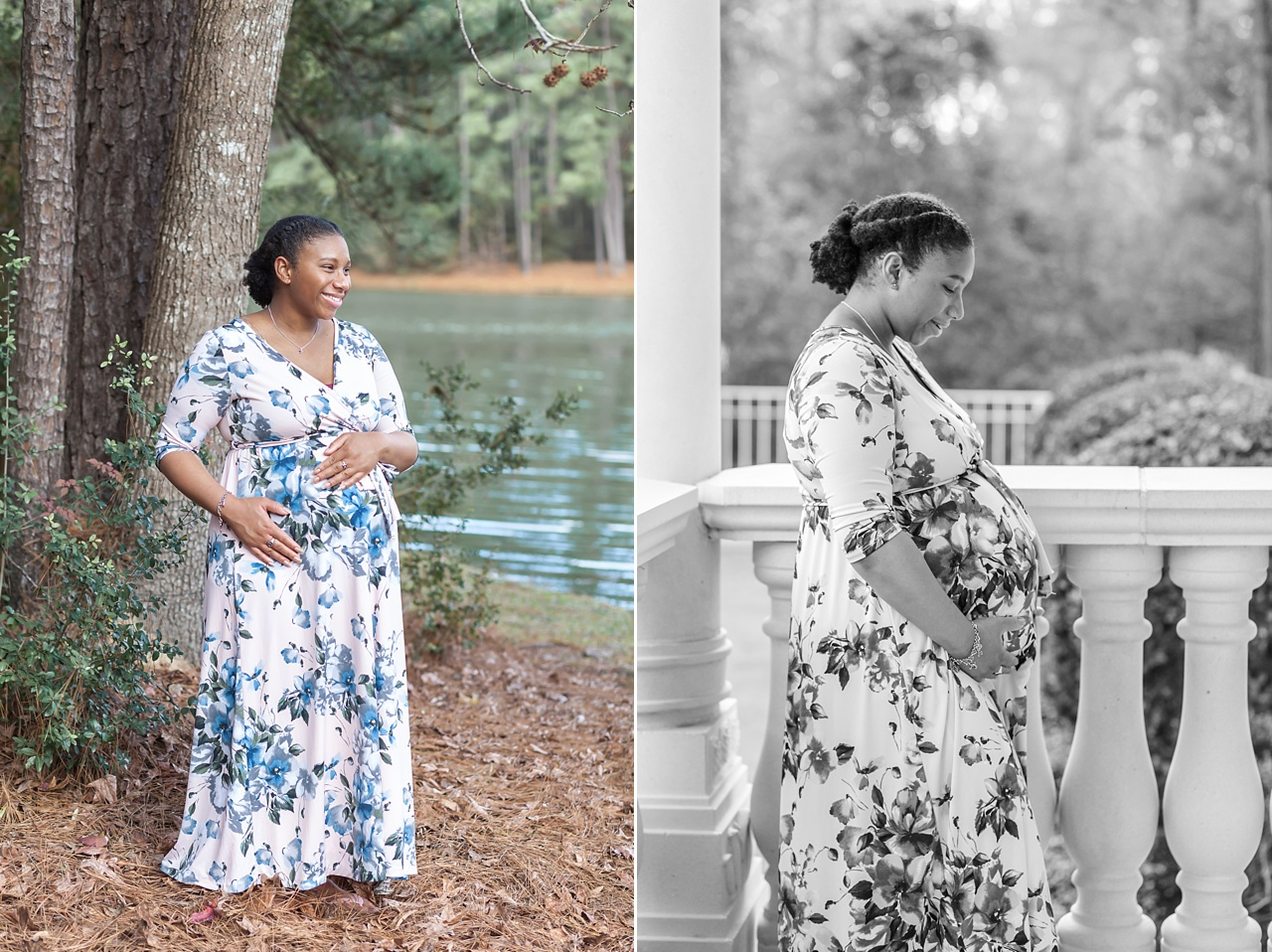 beautiful maternity mini session outdoors the woodlands texas