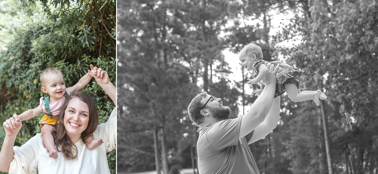baby's first birthday photo session the woodlands waterway