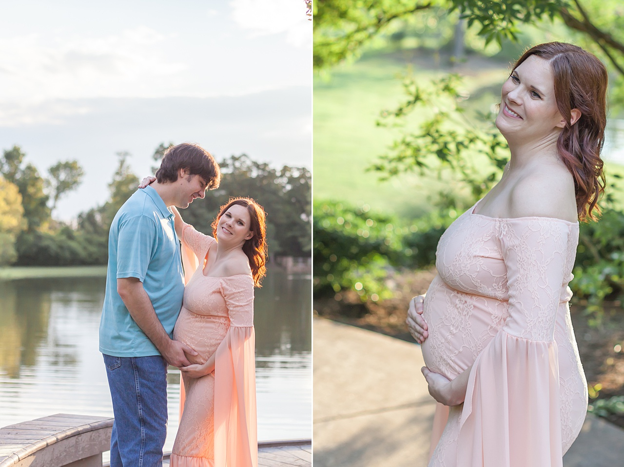 beautiful maternity session at sunset in the woodlands, texas