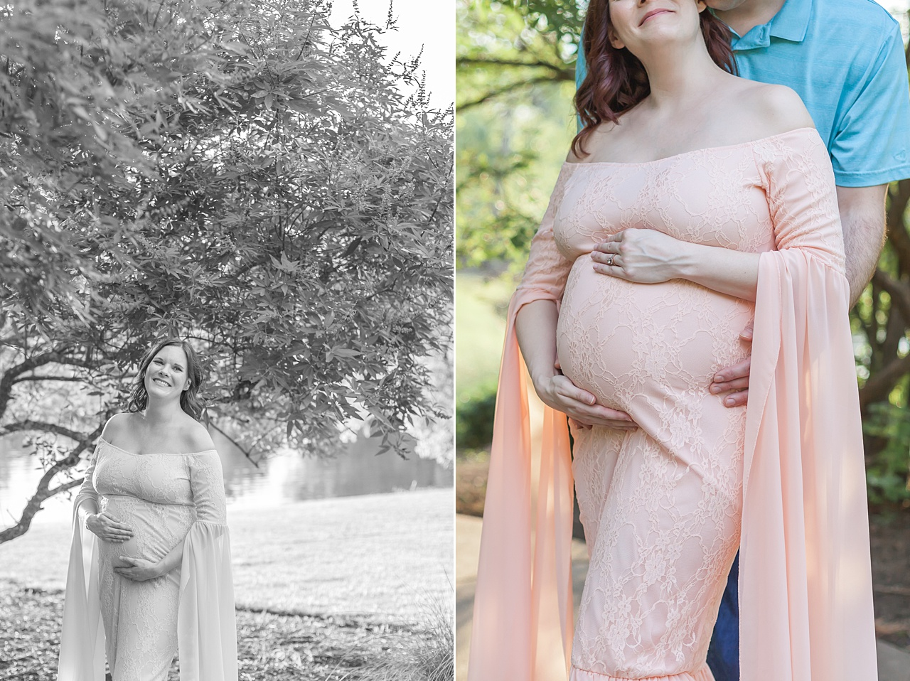 couples maternity session in the woodlands texas