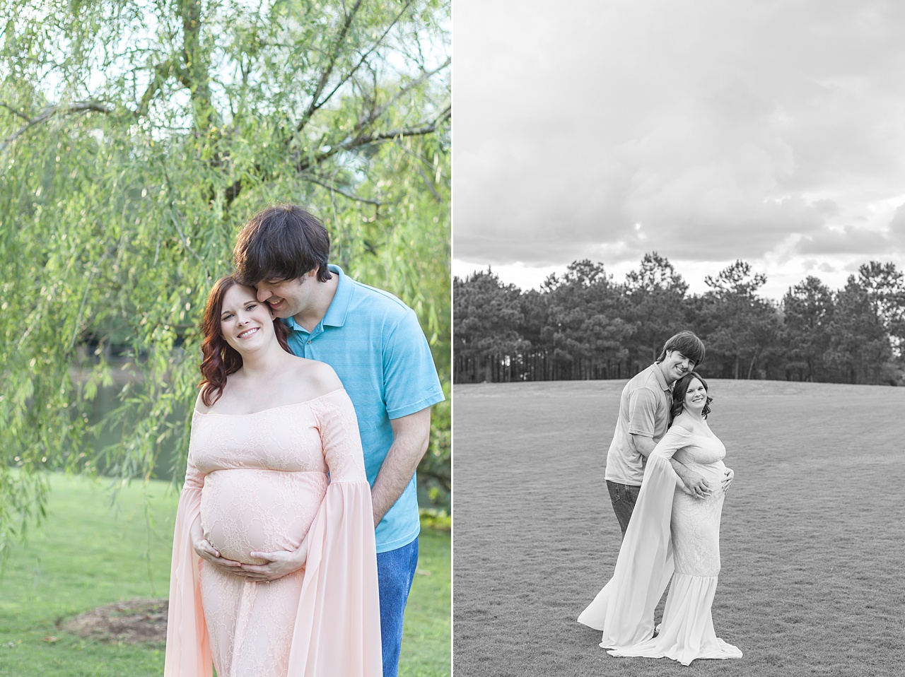 beautiful evening maternity session at rob fleming park in the woodlands, texas by kristal bean photography