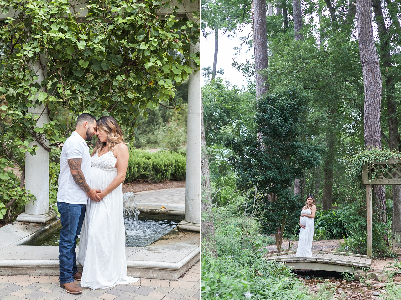 mercer arboretum maternity photo session by kristal bean photography