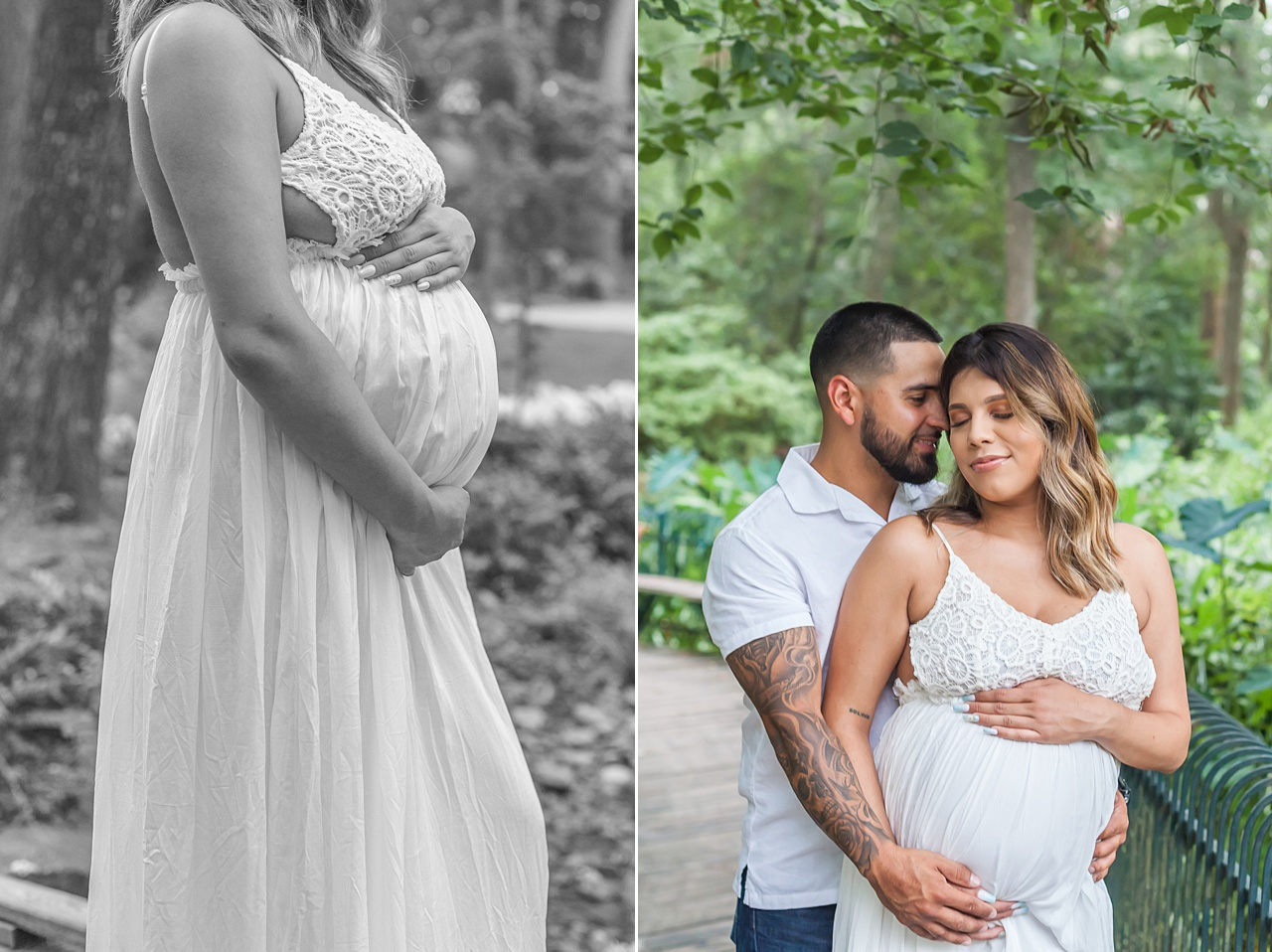 pretty maternity photo shoot outdoors in houston texas by kristal bean photography