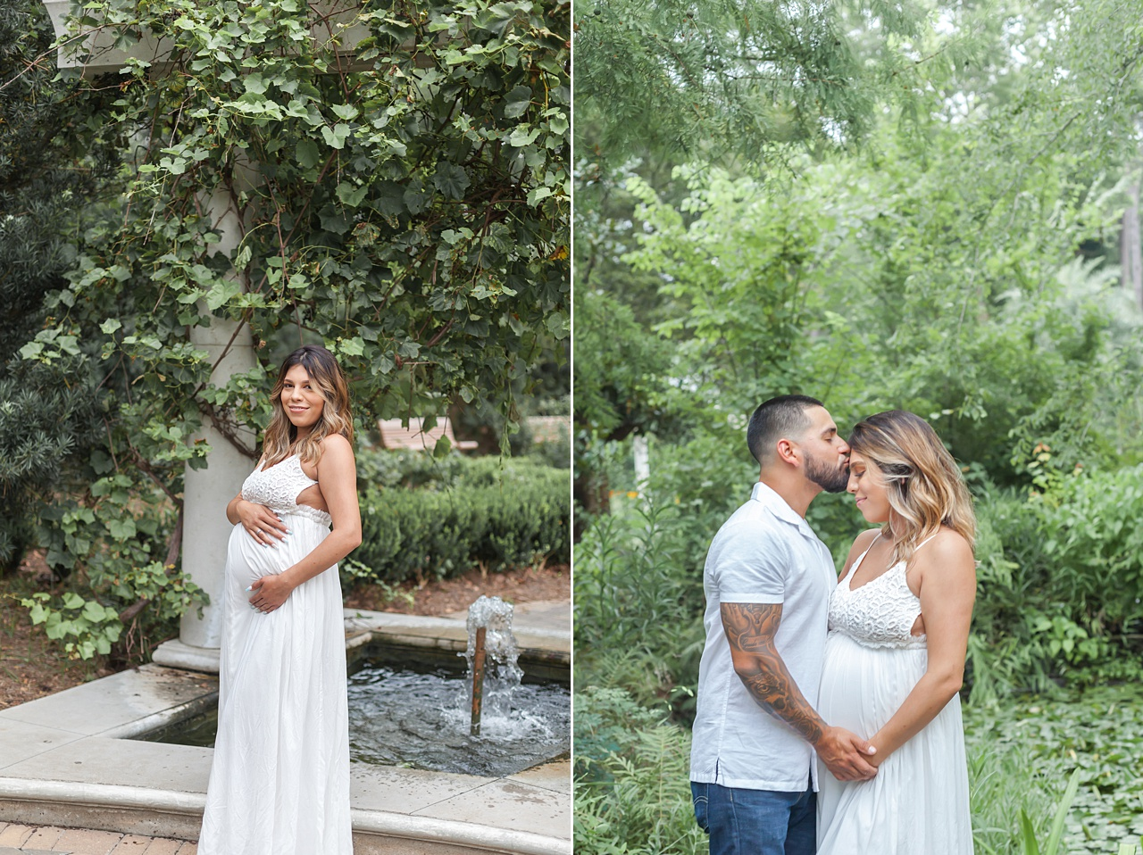 outdoor summer photo session in beautiful garden by kristal bean photography