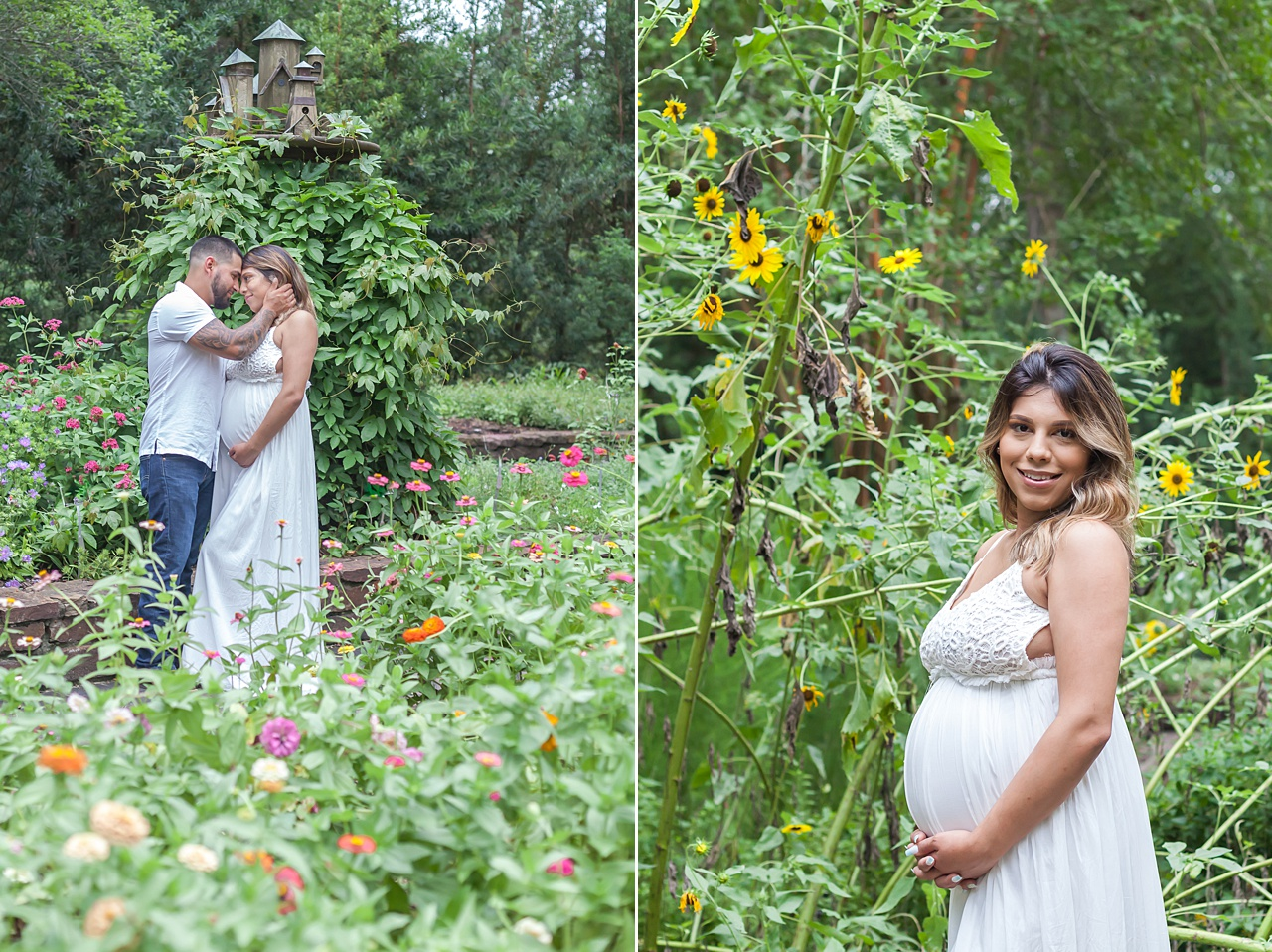 sprawling outdoor garden maternity session by kristal bean photography