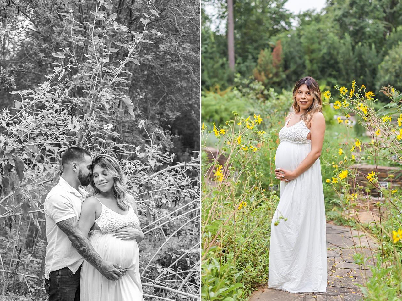 maternity photos at mercer arboretum by kristal bean photography