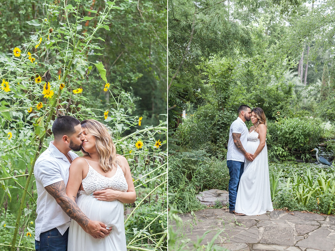 maternity photography session in garden setting by kristal bean photography