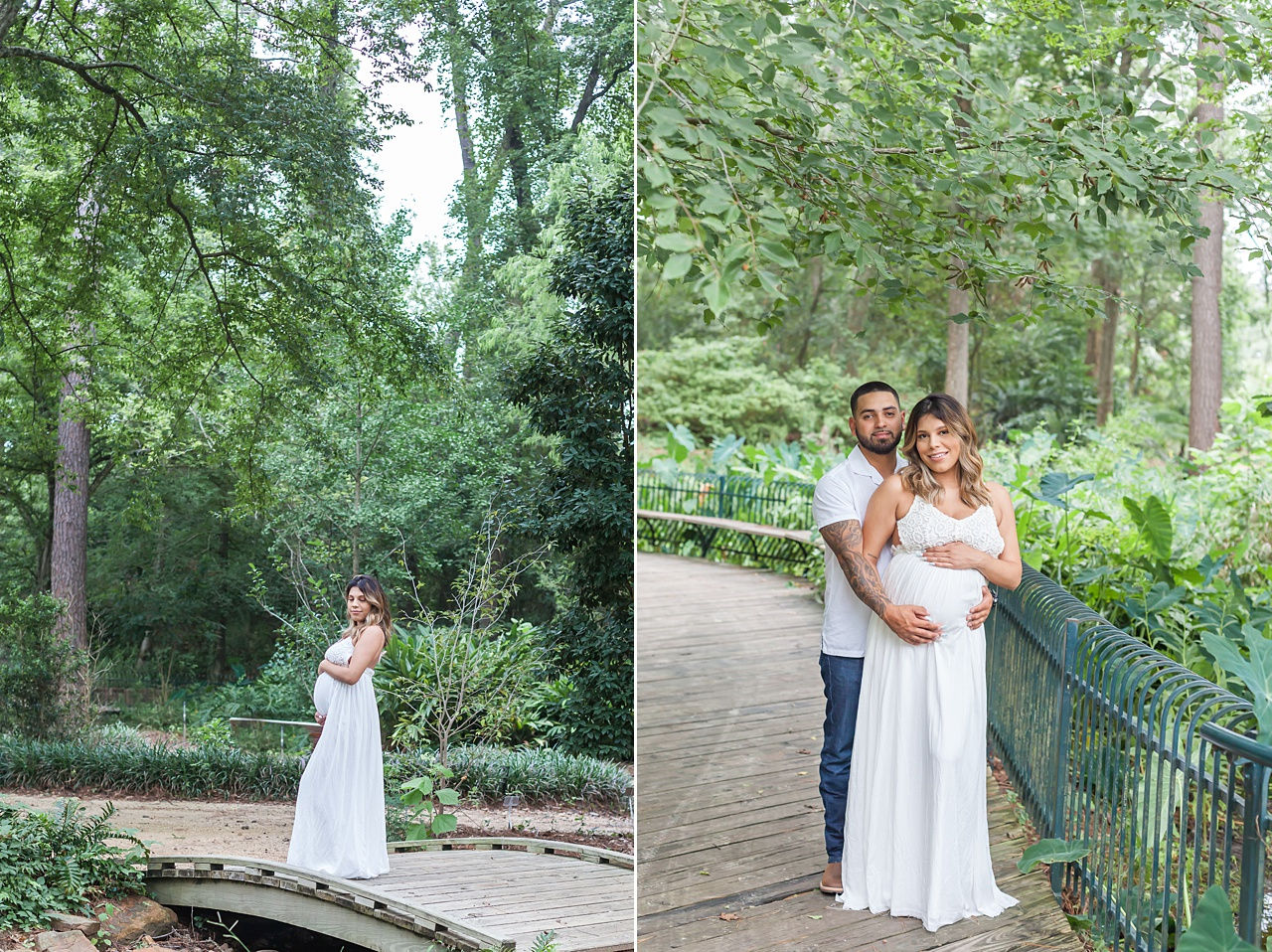 mercer arboretum beautiful maternity photo session by kristal bean photography