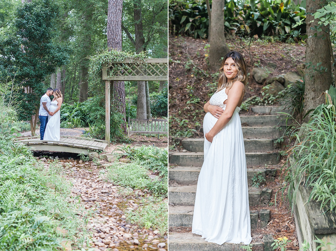 mercer botanical garden maternity photo session by kristal bean photography
