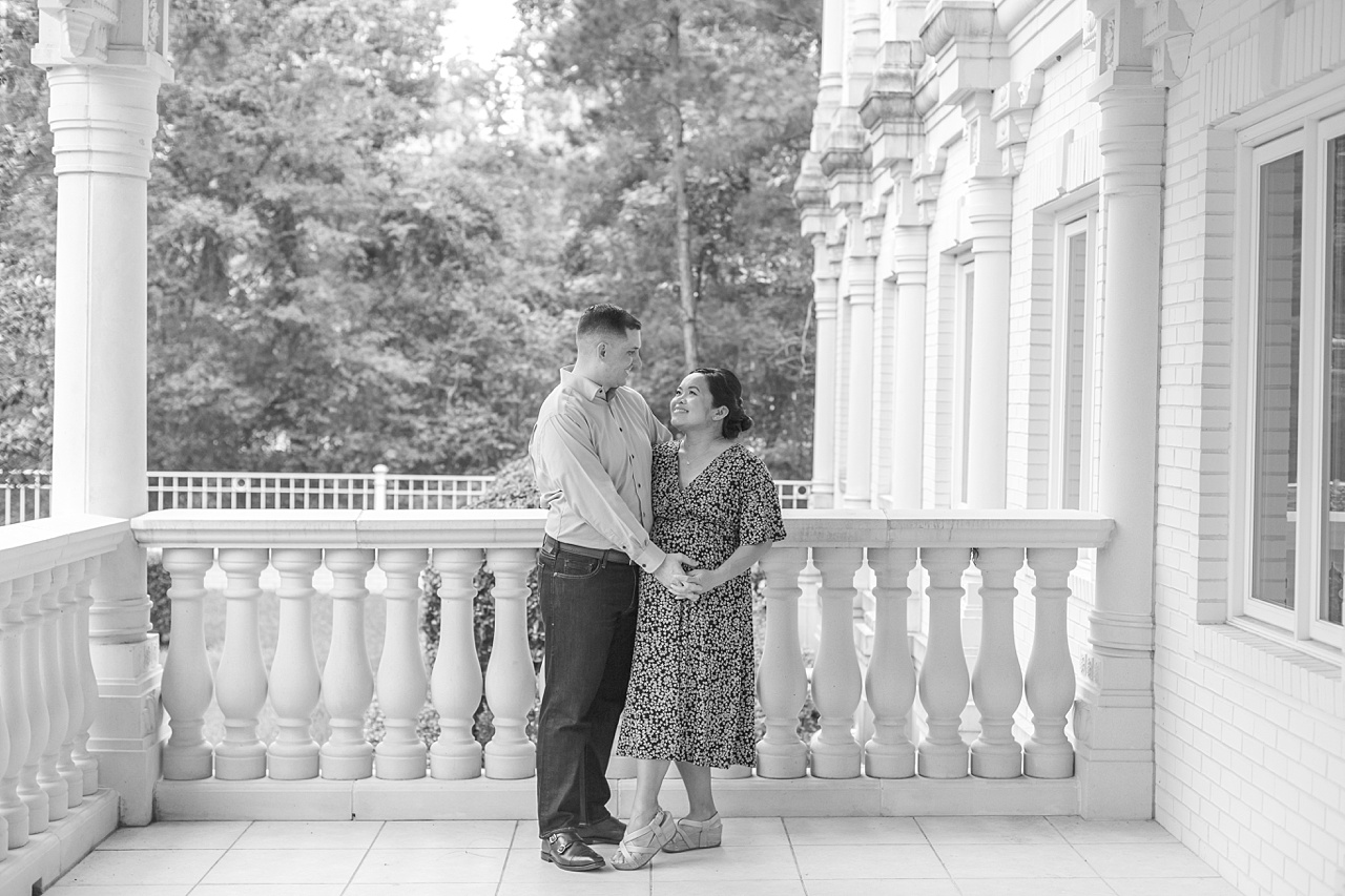 beautiful photo session in the woodlands celebrating first-time parents during covid-19