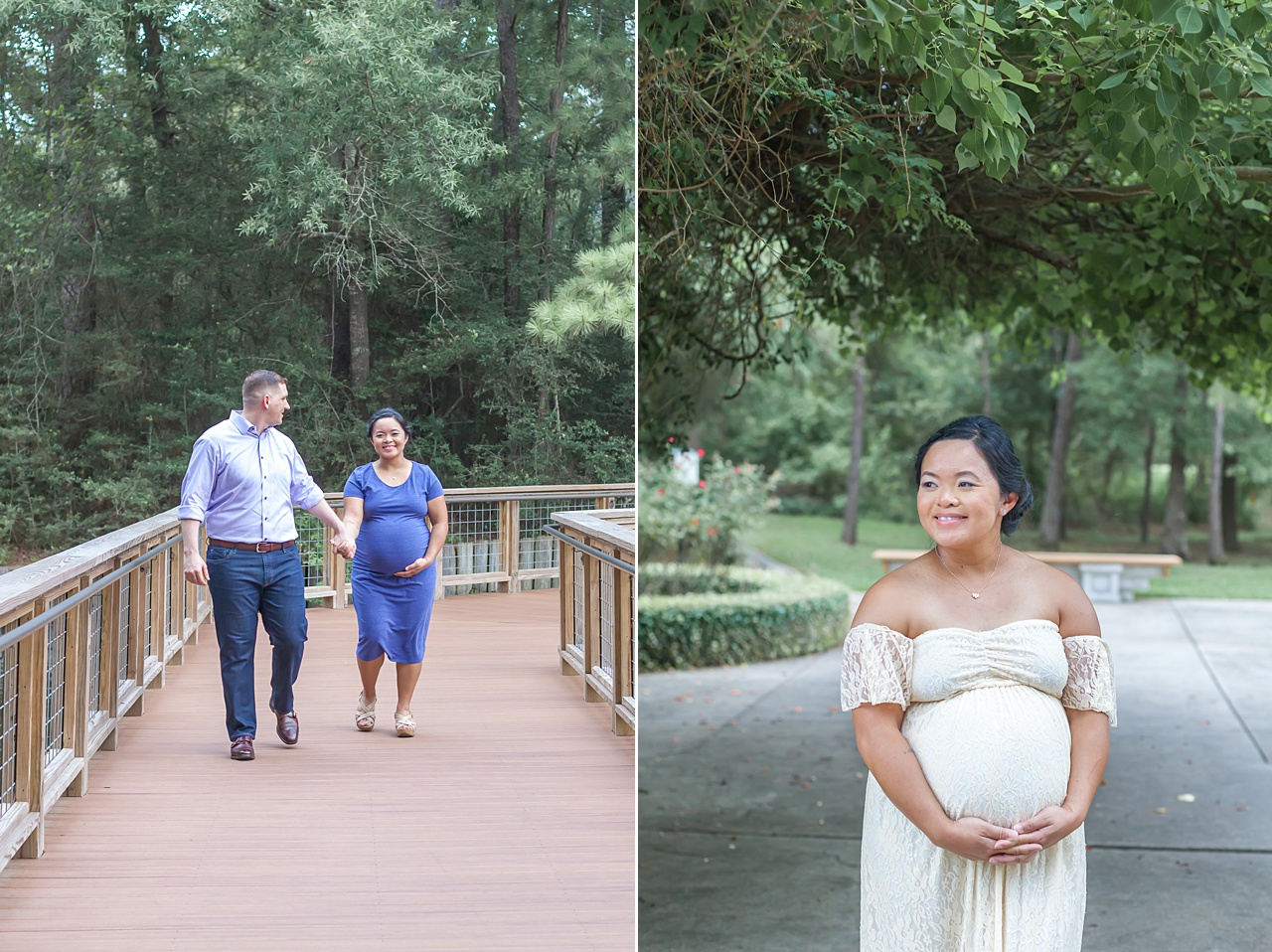 sweet outdoor summer maternity photos in the woodlands by kristal bean