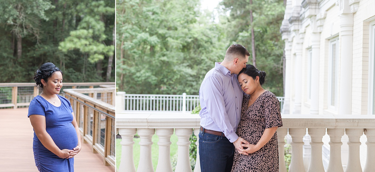 lovely outdoor maternity photography session in the woodlands by kristal bean
