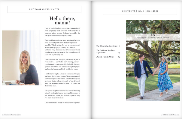 maternity photograpy client magazine by kristal bean photography