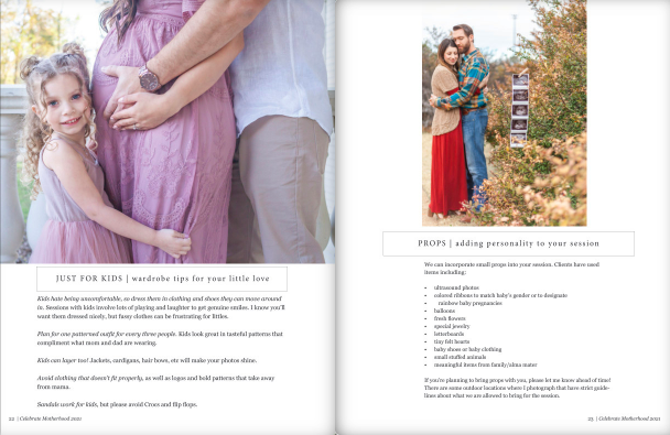 maternity photo session client magazine by kristal bean photography