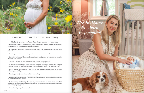 in-home newborn photo session client guide by kristal bean photography