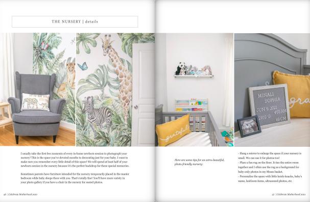 celebrate motherhood maternity and newborn photo session client magazine