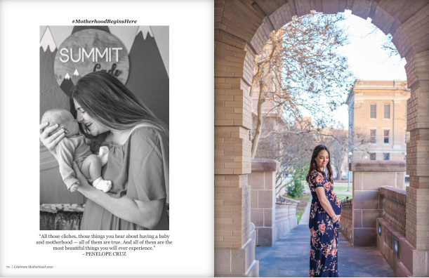 celebrate motherhood in-home newborn photo session client magazine