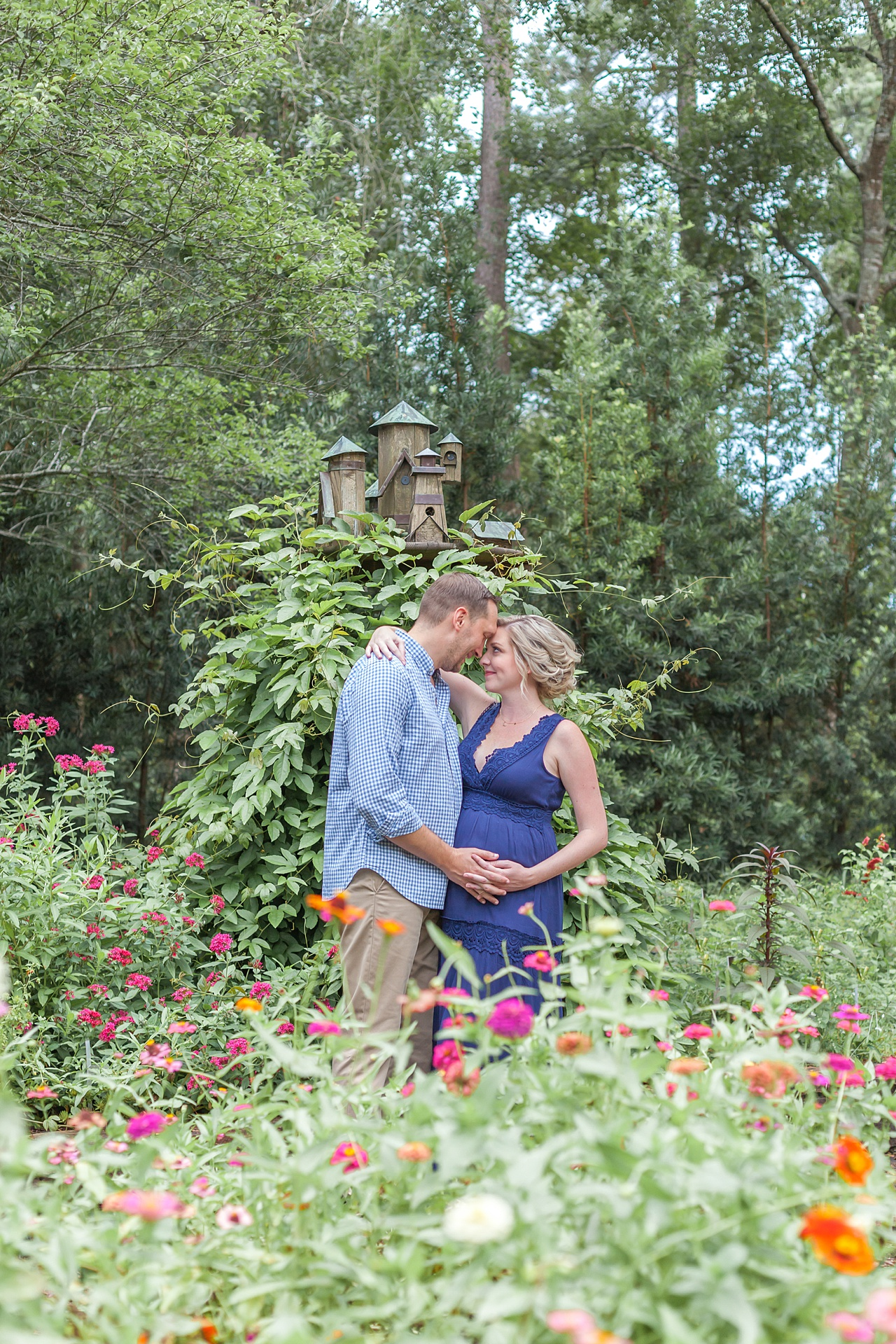 garden-themed maternity session in houston texas by kristal bean photography