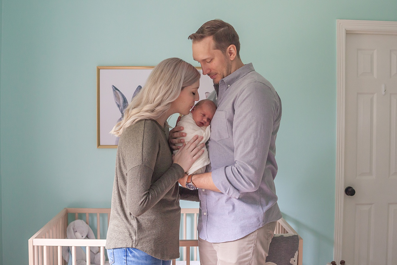 family photo session with newborn baby boy in the woodlands, texas by kristal bean photography