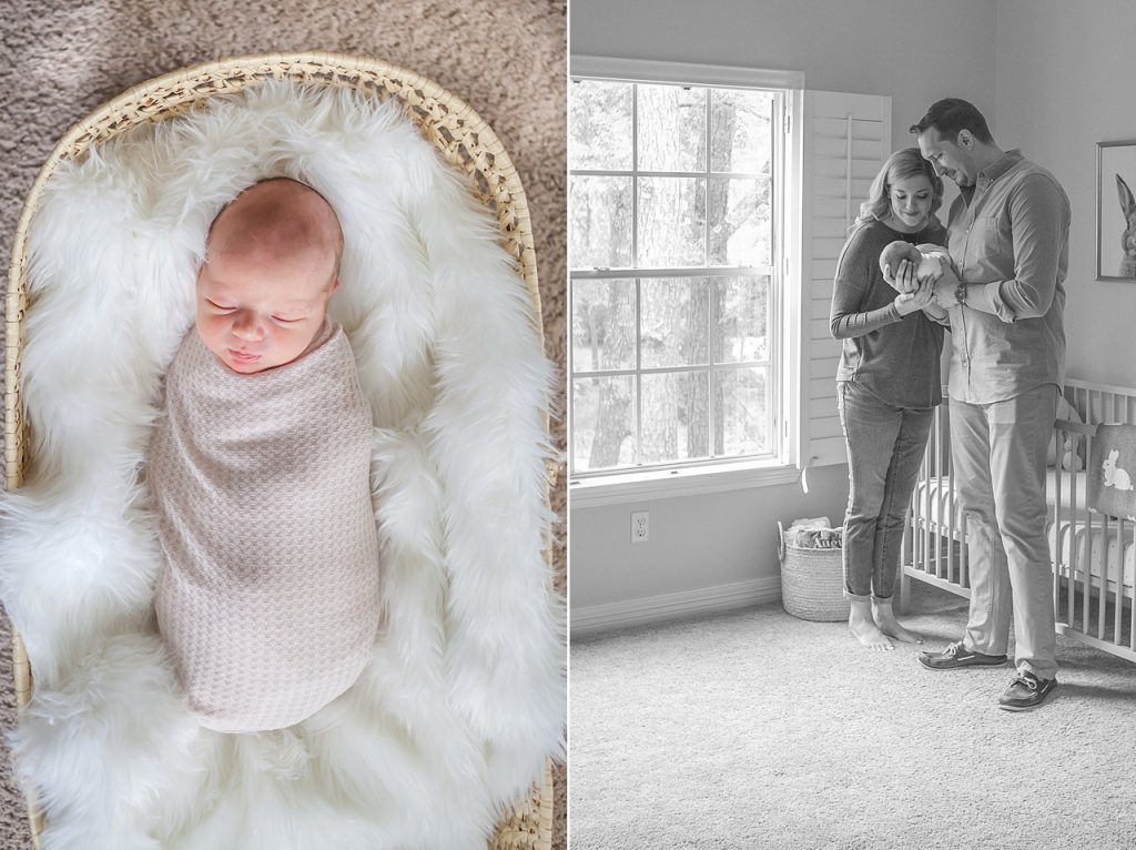 new family portraits of newborn by kristal bean photography