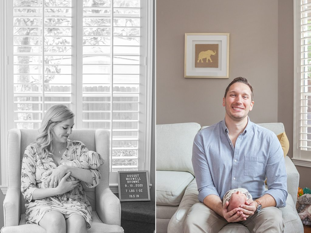in-home newborn photo session in the woodlands texas by kristal bean photography